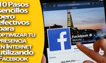Con una página de Facebook vas a optimizar tu presencia y conectar con tu audiencia